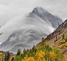 Grinnell Cloud Wrap - Glacier National Park by Mark Kiver