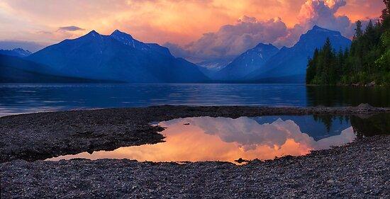 Lake McDonald Sunset - Glacier National Park by Mark Kiver