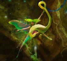 Dancing Auroras - Green Fairy by Aimee Stewart