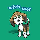 Beagle - Who, Me? - green by Craig Bruyn