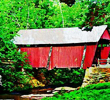 Campbell's Covered Bridge - Watercolor by Lisa Taylor