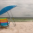 Beach Umbrella and Chair by mcdonojj