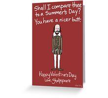 William Shakespeare Greeting Card