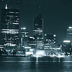 Perth City at Night by Mark  Nangle
