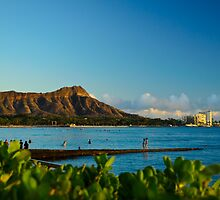 Diamond Head mountain Hawaii by raymona pooler