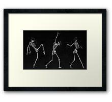 Dancing Skeletons Framed Print