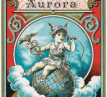 Label for 'Aurora' tobacco, c.1890 by Bridgeman Art Library