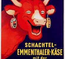 'Bel et Bon: Schachtel-Emmenthaler-Kase mit der Lachenden Kuh', poster advertising cheese, c.1929 by Bridgeman Art Library