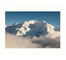 Mont Blanc in Winter Art Print