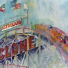 CYCLONE CONEY ISLAND by Dorrie  Rifkin