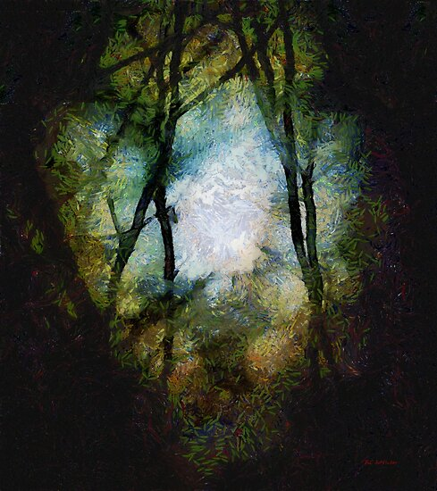 Snow Moon Embrace by RC deWinter