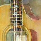 Taylor Acoustic Guitar  by Dorrie  Rifkin