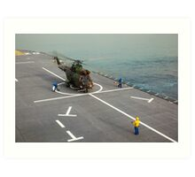 Eurocopter AS332 Super Puma Helicopter Art Print