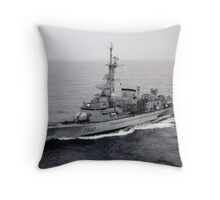 Old French Navy Destroyer Throw Pillow