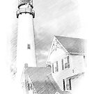 Fenwick Island Post Card by Monte Morton