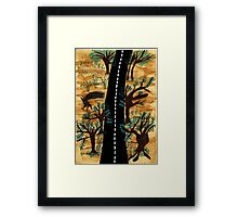 The Lonely Path A Road To Begin New Life  Framed Print