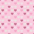 Retro Pink Hearts Pattern by iEric