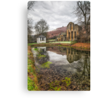 Abbey Reflections Canvas Print