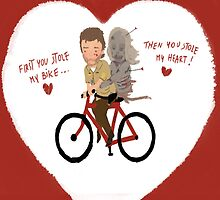 the walking dead heart/bike by daniloschirru