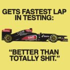 Kimi on lap times during testing by brilliantbutton