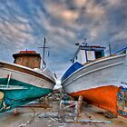 Greek traditional boats by george papapostolou