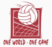 "Volleyball ""One World - One Game"" by SportsT-Shirts"