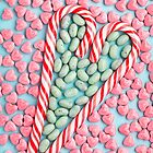 candy cane heart by supermimicry