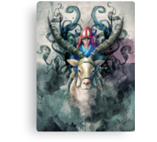 Ashitaka Demon Mononoke Digital Painting Canvas Print