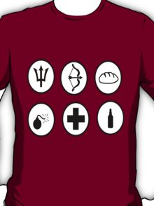 Hunger Games Character Icons T-Shirt