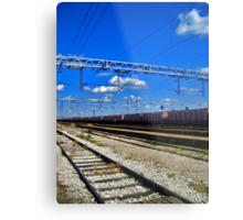 train line Metal Print