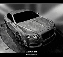 Art Work 094 Bentley black and white by Alexander Drum