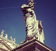 Pius IX Statue - Vatican City by J F Harrison