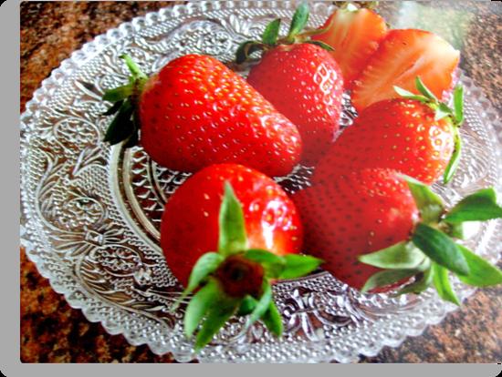 Red and sweet strawberries by Ana Belaj