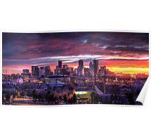 Denver Skyline Sunrise Poster