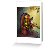 Reading stories Greeting Card