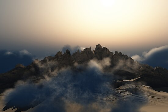 Pandora Landscape - Wasteland Mountains by EthanMcFenton