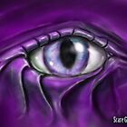 Scare Graphics Stone Cold Purple Staring Eye by scaregraphics