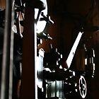 Steam train engine by Maxine Collins