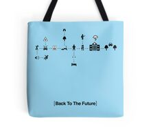 Back To The Future Pictogram Story  Tote Bag