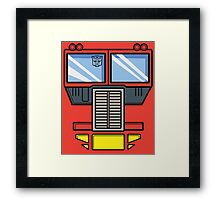 Transformers - Optimus Prime Framed Print