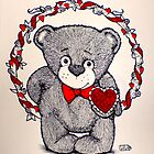 Valentine Bear by Lenora Brown