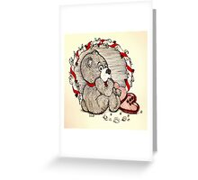 Impatient Valentine Bear Greeting Card
