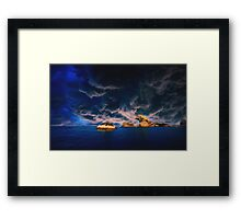 stormy oasis  pastel Framed Print