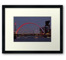CLYDE ARC (SQUINTY BRIDGE) - GLASGOW Framed Print
