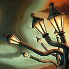 Drunk Streetlamps by Remus Brailoiu