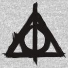 Deathly Hallows Symbol (black) by RebelCollective
