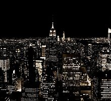 New York City Skyline at Night by Andrew  MCKENZIE
