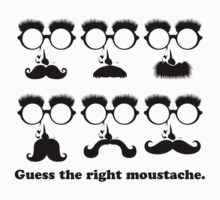Guess the Right Moustache Kids Clothes