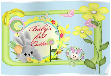 Baby's First Easter Card by Vickie Emms
