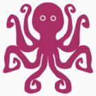 Octopus, hot pink (magenta) by Blonddesign
